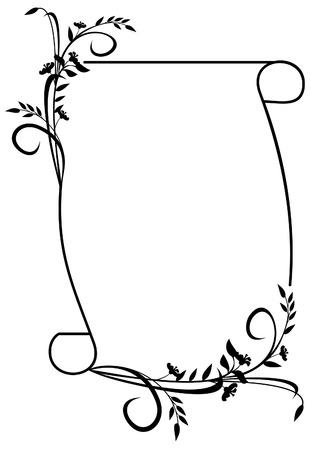 elegant silhouette frame Vector