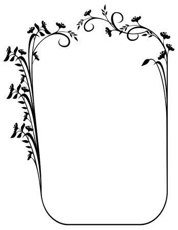 elegant silhouet frame met afgeschuinde hoeken