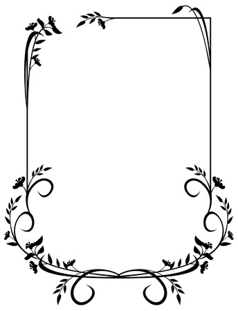 elegant silhouette frame with chamfered corners