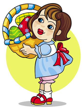 cute girl: Easter greetings
