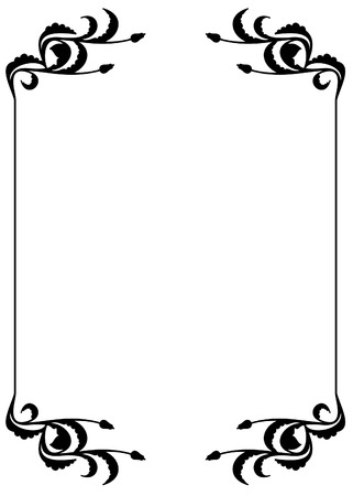 silhouette frame Stock Vector - 8790281