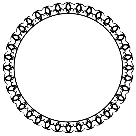 bookish: Round  silhouette frame