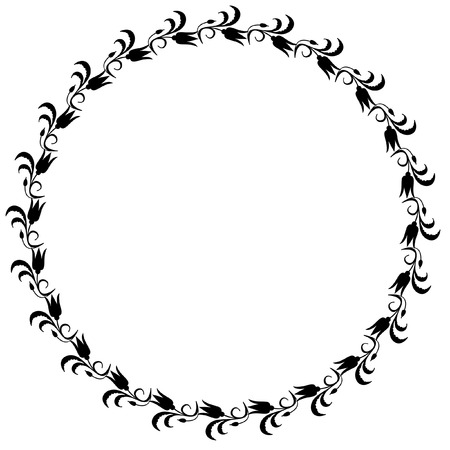 Round  silhouette frame Stock Vector - 8790273