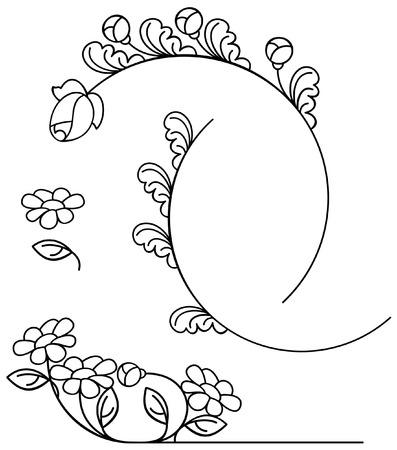 bookish: floral design elements