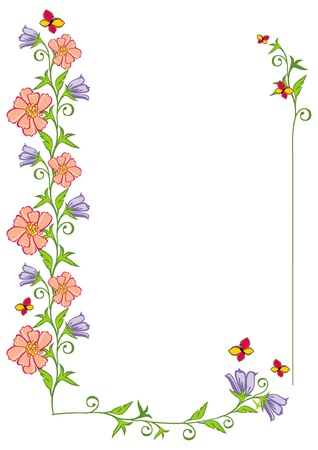 pastiche: vector frame with flowers Illustration