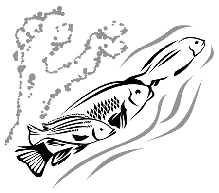 Three fish Vector