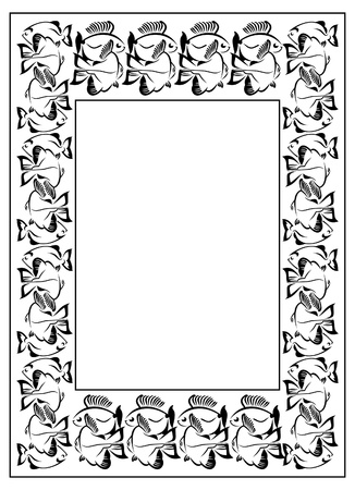 bookish: Frame with fish silhouette