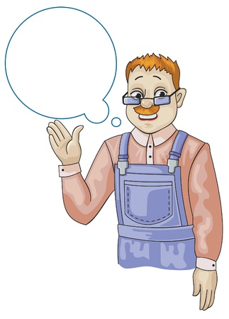 Man in overalls Stock Vector - 11662903