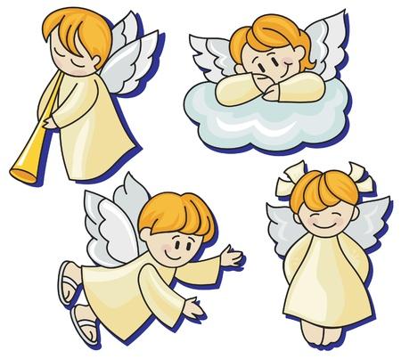 cherub: Four angels Illustration