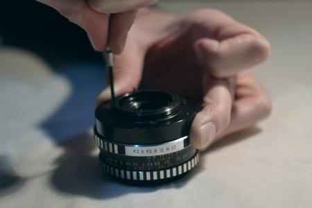 contrema�tre: R�paration lentille Banque d'images