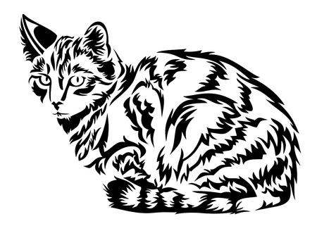 white tail deer: Cat in vector