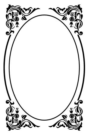 an oval: Elegante marco oval