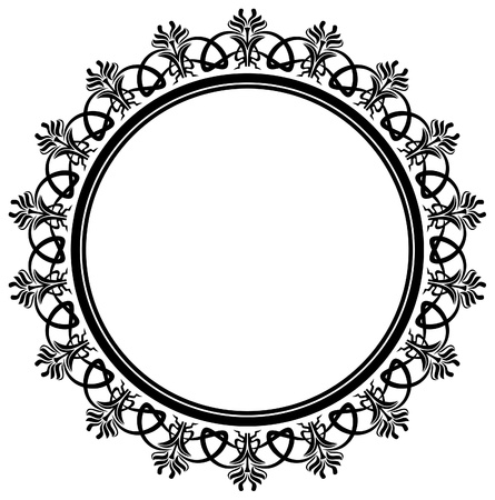 round: Elegant frame Illustration