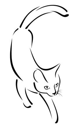 Imagen estilizada de un gato Foto de archivo - 26533365