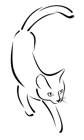 stylized image of a cat Vector