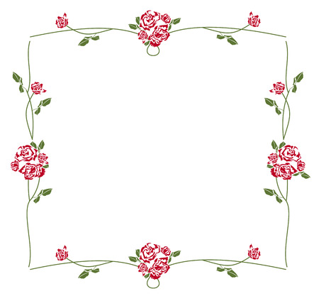 elegant frame with roses Vector