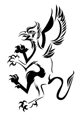 Griffin silhouette Vector