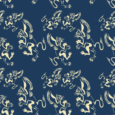 Pattern with griffins Vector