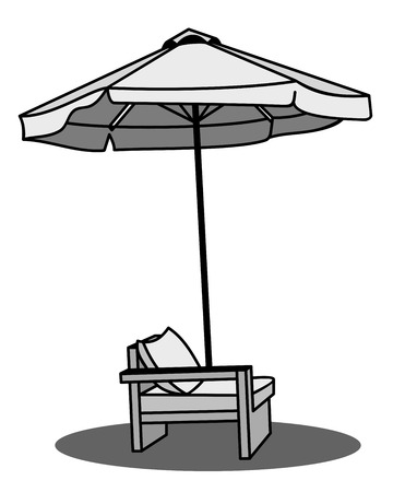 chaise: chaise longue  Illustration