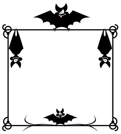 Frame with bats Illustration