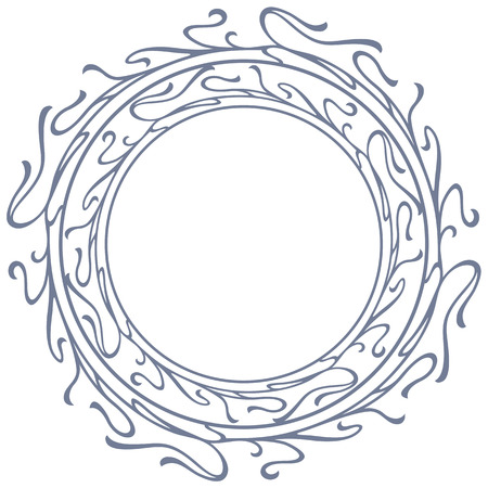 twiddle: Round silhouette frame