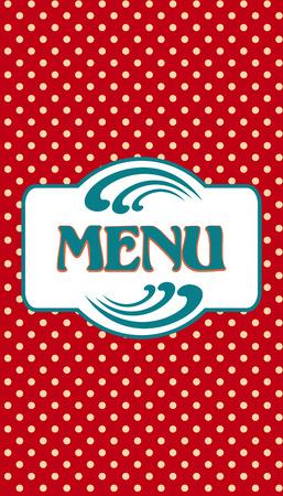 Cover design for a restaurant menu Vector