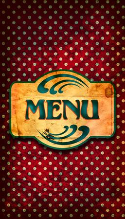 Cover design for a restaurant menu photo