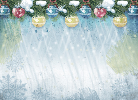 outworn: Grunge Christmas background