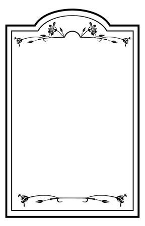 floral outline round frame Illustration