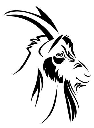 Head of the goat Stock Illustratie