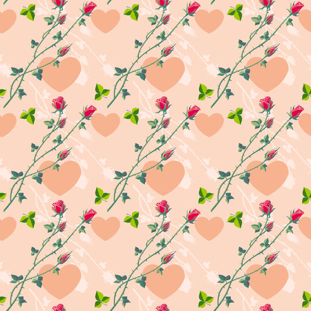 Roses on a pink background Vector