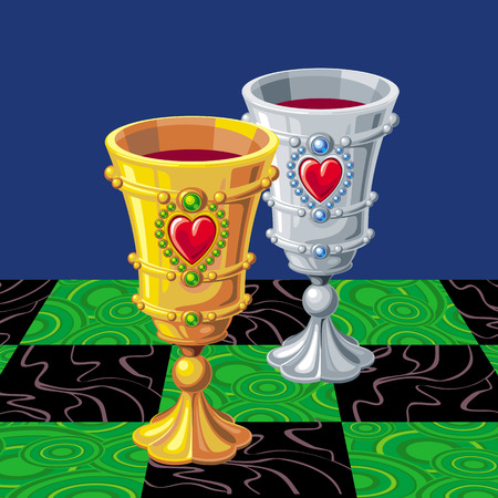 revelry: Golden and silver goblets