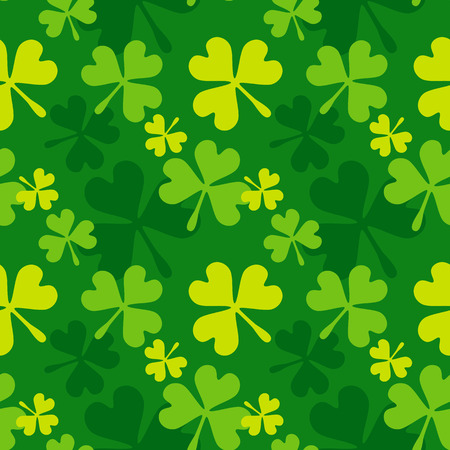 celtic shamrock: Green shamrock seamless pattern