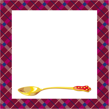 teaspoon: Fondo con la cucharadita de oro