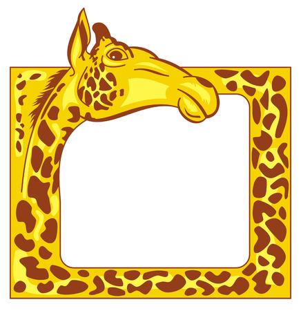 giraffe frame: Yellow frame with giraffe head