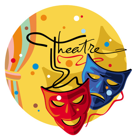 theater curtain: Theater masks