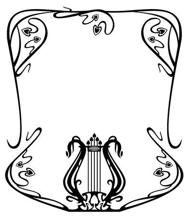 lyra: Elegant frame with lyra silhouette