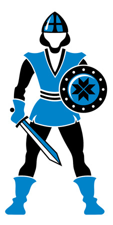 Figure of medieval guard Vector