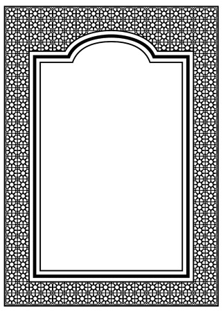 scroll design: background with ornament and free space for text