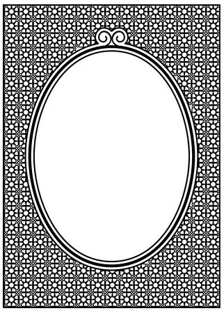 oval frame: Oval frame with ornament and free space for text