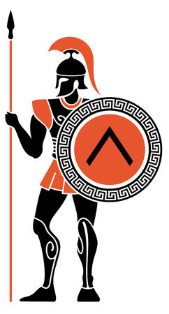 Guerriers de la Grèce antique Vecteurs