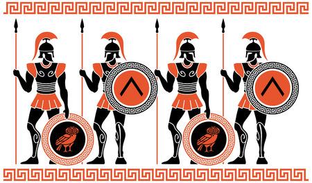 古代ギリシャの戦士  イラスト・ベクター素材