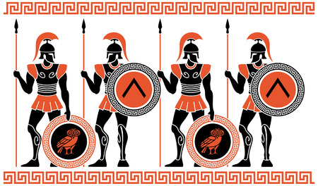 Ancient Greek Warriors Stok Fotoğraf - 37237404