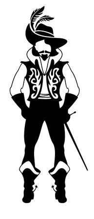 musketeer: musketeer silhouette