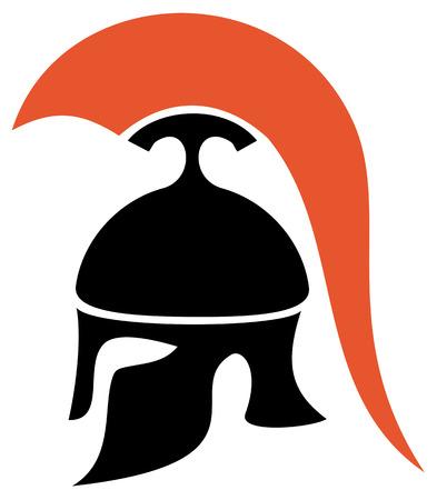 troy: Greek helmet silhouette
