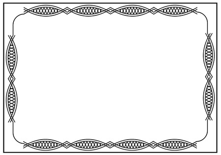 Abstract frame silhouette Vector