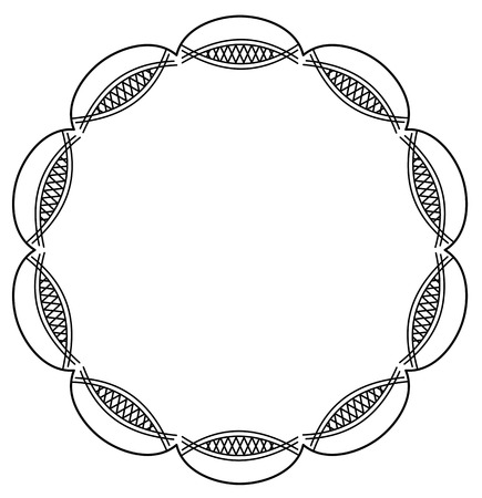 Round abstract frame silhouette Vector