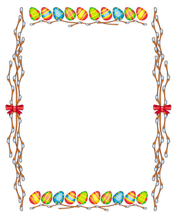 good looking: Easter frame with Easter eggs Illustration