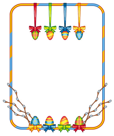 good looking: Holiday  frame with Easter eggs
