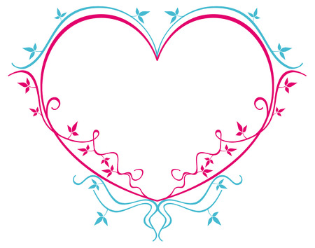 heart shaped: Heart shaped floral frame